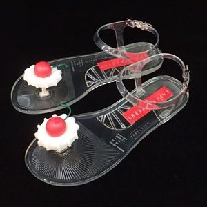 Katy Perry Cherry Jelly Sandals 9 - NIB